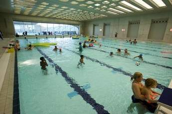 Public Swimming At The London Aquatics Centre