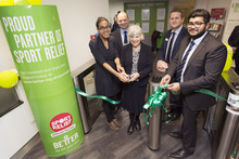Ribbon cutting Archway Leisure Centre