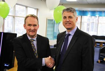 LCC's Cllr Nick Worth and GLL's Deputy MD Peter Bundey
